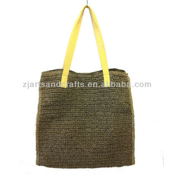 100% Natural Straw Beach Bag,Wholesale Straw Bags