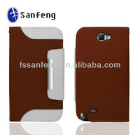 Newest for promotion!!! Flip pu wallet leather case for samsung galaxy note 2 n7100