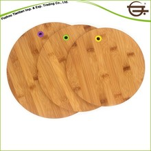 Round Edge Bamboo 3 Piece Fruits Non-toxic Bpa-free Kitchen Cutting Boards