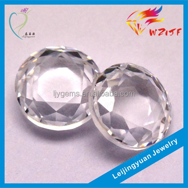 2016 hot sale round brilliant cut cz loose white flat back cubic zirconia