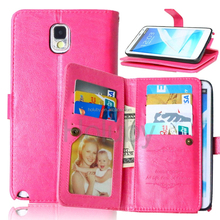 Mobile phone accessories Flip Leather Case Cover for Samsung Galaxy Note 3, for Samsung note 3 mobile phone holdings