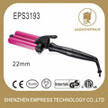 Temperature controlled 3 barrel hair styling iron curling iron with marcel handle EPS3193