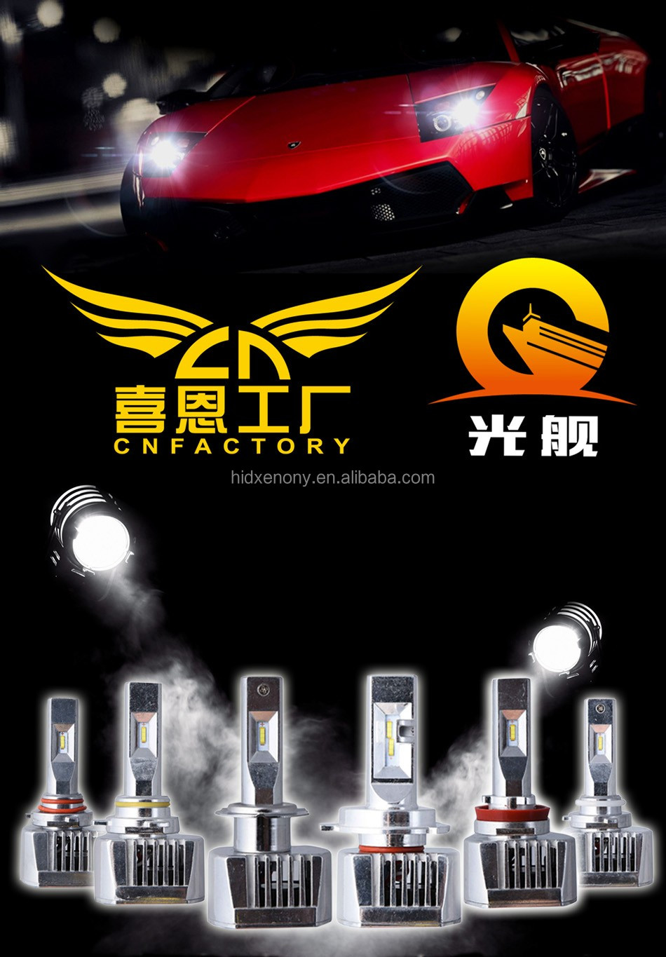 Factory wholesale direct sale H7 LED Headlight 60W 8000 lumen led headlight car led headlight bulbs