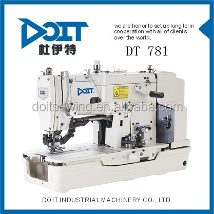 High speed Straight Button Holing Industrial Wig Sewing Machine DT781 sewing machine factories in lahore