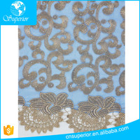 SPR-L016 SHAOXING SUPERIOR Gold Supplier China Embroidered Water Soluble Clothes Design Mesh Lace Fabrics