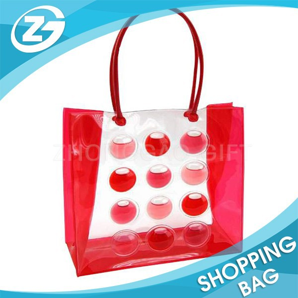 Lovely Transparent Clear Plastic PVC Hand Bag