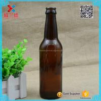 2017 Gold supplier round 330ml amber glass beer bottle