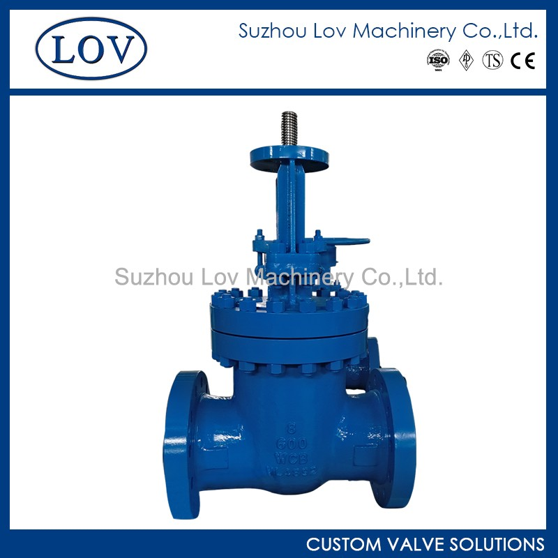 Cast Steel A216 WCB Material API 600 Flanged Gate Valve