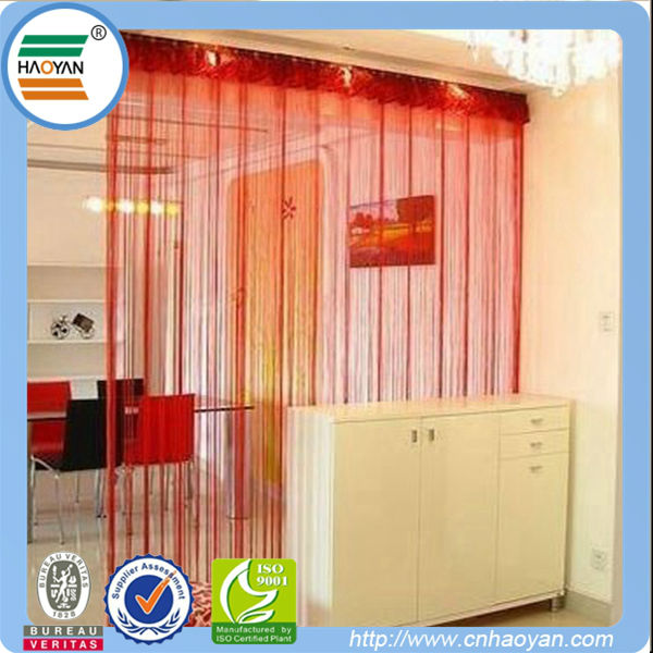 Polyester string thread curtains for house decoration