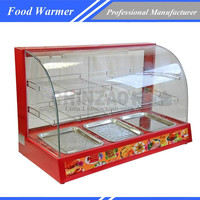 Hot Food Display Food Warmer/Glass Food Warmer Display/Food Warmer ZSG-10-3