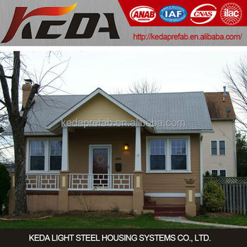 American Style Light Steel Villa House Prefabricated Cottage for sale