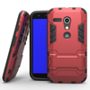 Cool Iron Man Holster Armor Case For Motorola Moto G Xt1032 Cover Shockproof Heavy Duty Rugged Soft Dual Layer