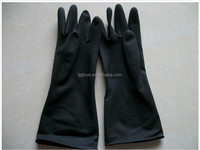 China manufacturer industrial latex glove/black-orange latex glove /60-130g