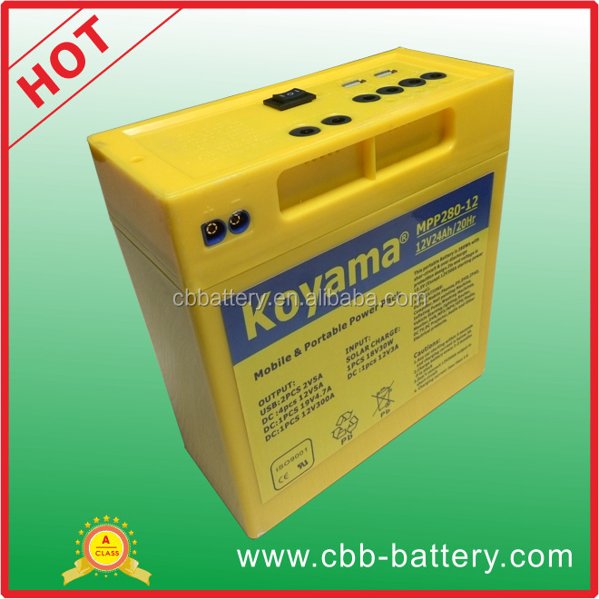 New hot selling products 12v 24 amp portable ups battery