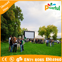 2015 new inflatable advertising billboard, inflatable commercial cinema screen/3m projector screen