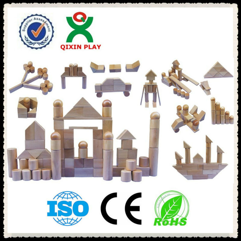 53 dollars for sale!!!!!primary soild wood building blocks/block buildng/wood gabe bolck(1 set=96pcs) QX-B5001