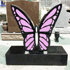 China Black Granite Butterfly Headstones