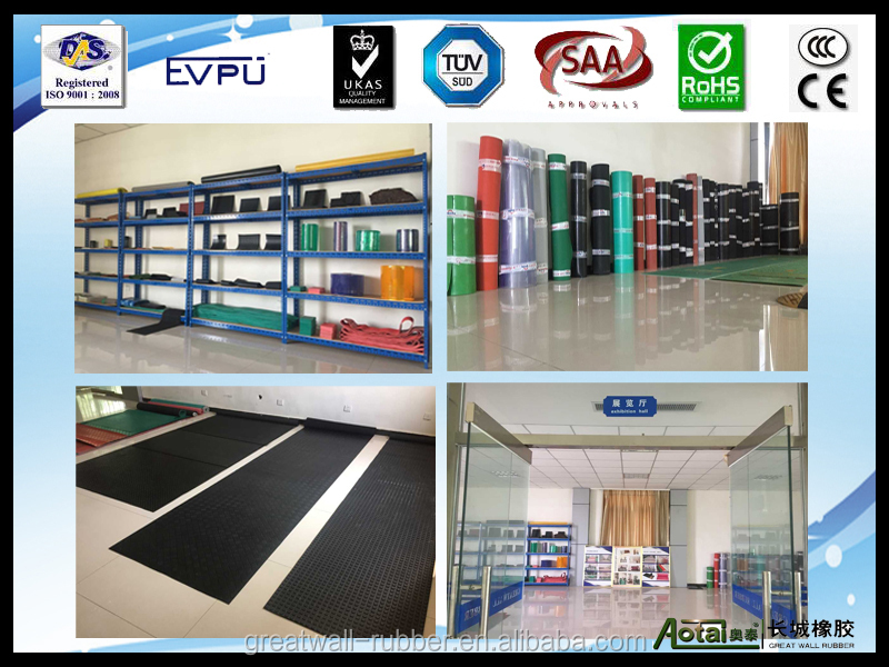 professional rubber sheet manufacturer high friction 6mm-12mm thickness diamond rubber sheet