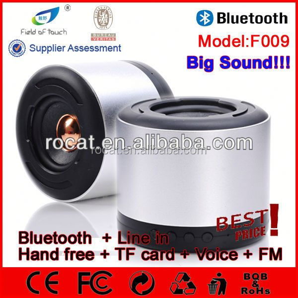 ipx4 waterproof hifi bluetooth speaker aluminium enclosure mini bluetooth speaker with tf slot