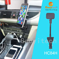Car accessory dual USB car charger with strong magnetic mount