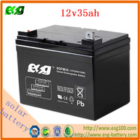 Deep cycle solar batteries 12V 35ah sealed lead acid battery