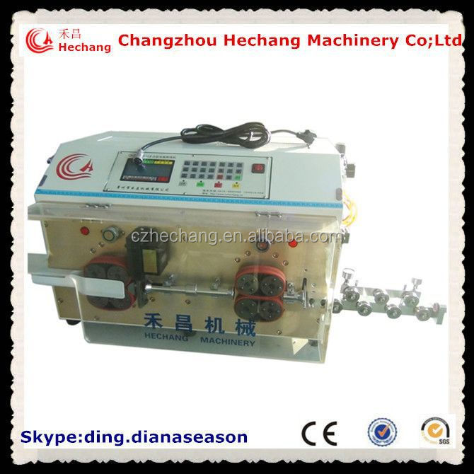 High Speed Cutting And Stripping Machine For coiled coaxial cable stripping machine
