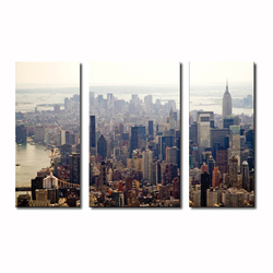 USA NEW YORK city view home decor wall art 3 panel canvas printing