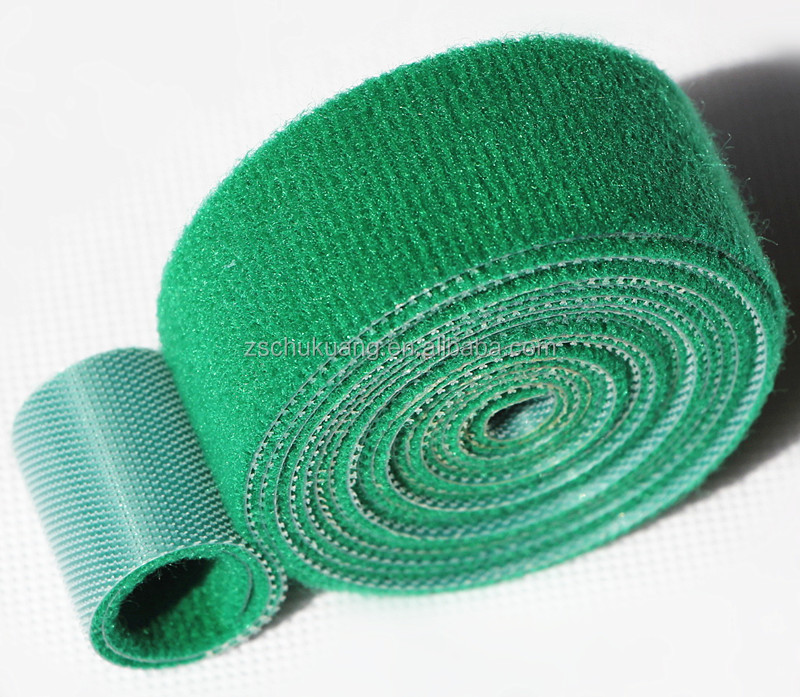 Plastic injection hook+green velour back to back hook and loop