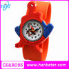 All kinds of candy colore spider man design fashion print silicone slap watch
