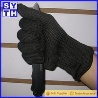 Stainless Steel black wire mesh gloves