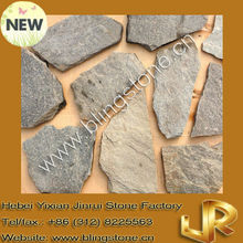 Natural random green quartzite stone paving