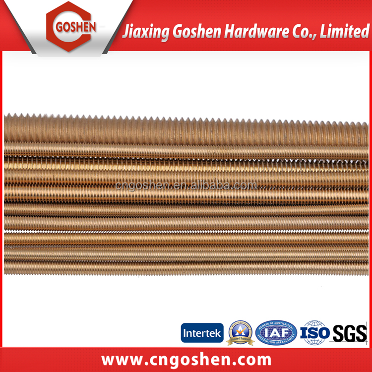 Din975 brass thread rod