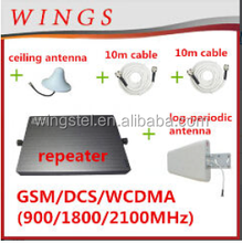 GSM repeater booster for home, tri-band dual band mobile booster 900 1800 2100mhz