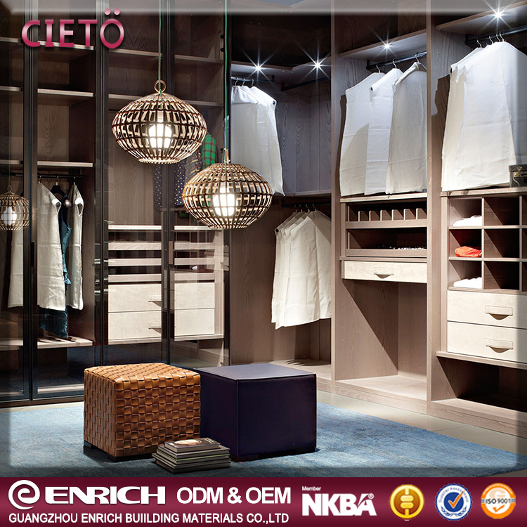 Modern style bedroom wall simple designs furniture easy assemble wooden dressing closet wardrobe