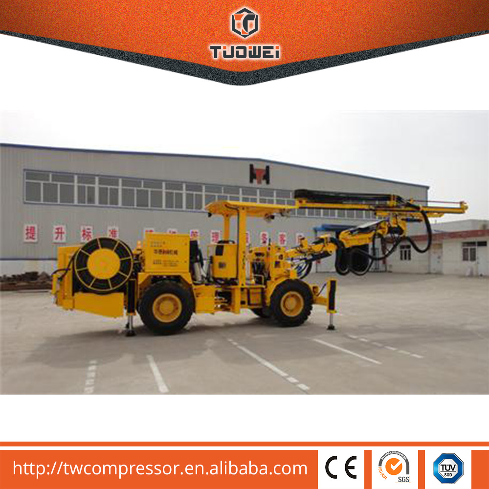 TW45(HT81) hydraulic rock drilling jumbo for mining