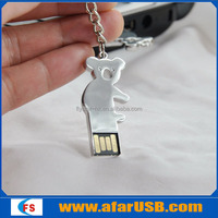 Koala usb flash drive, mini metal animation usb pen drive