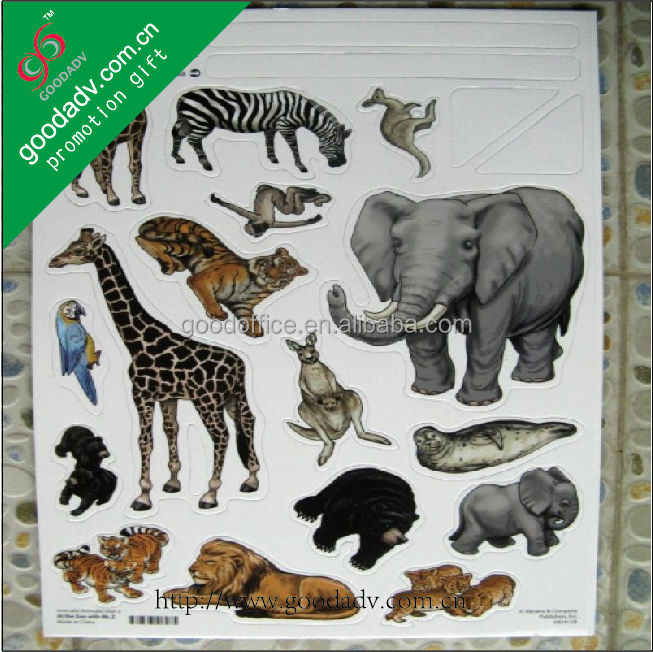 tropical wild animals design kids educational toys magnetic puzzle board