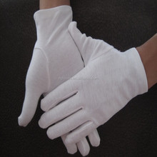 ceremony military parade cotton gloves white with mini dots on palm working