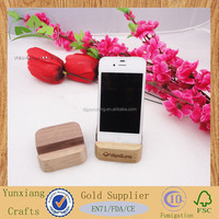 small wooden square holder wood phone holder