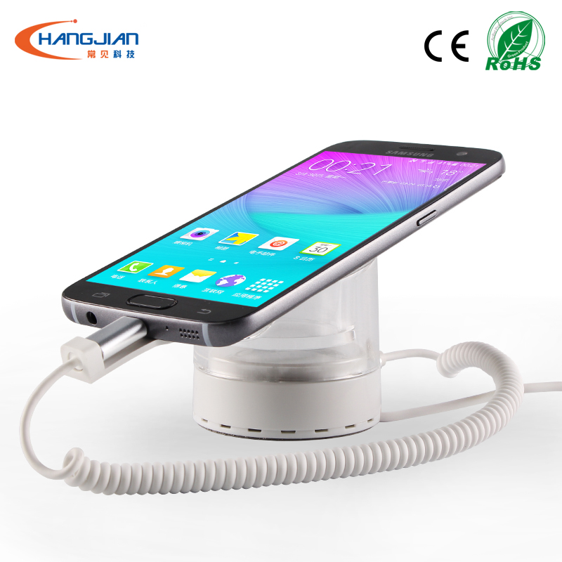 high quality organic glass cellphone security display desktop holder for mobile phone retailer seller carrier