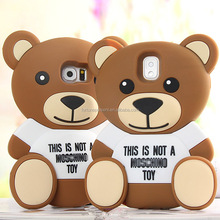 For iphone 4s/5/5s/6/6plus silicone cover cartoon toy case 3D teddy bear phone case phone cover for Samsung Galaxy