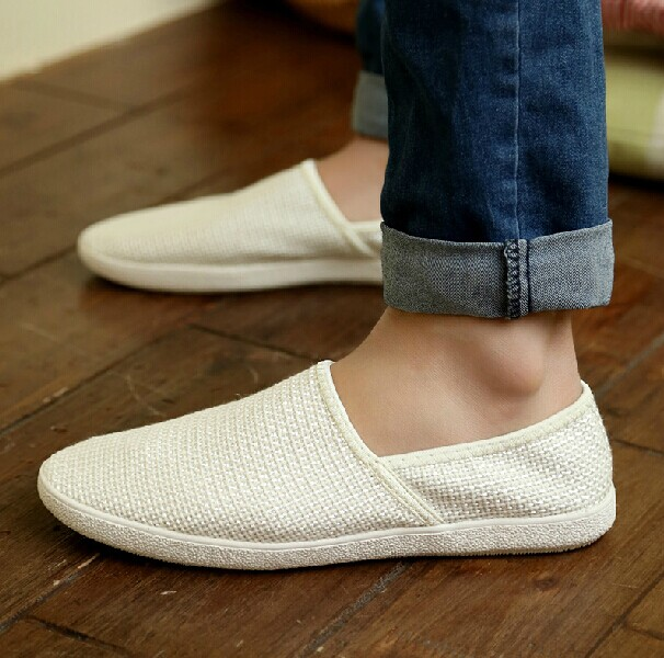 2014 Hottest plain white canvas shoes cheap wholesale canvas shoes for men