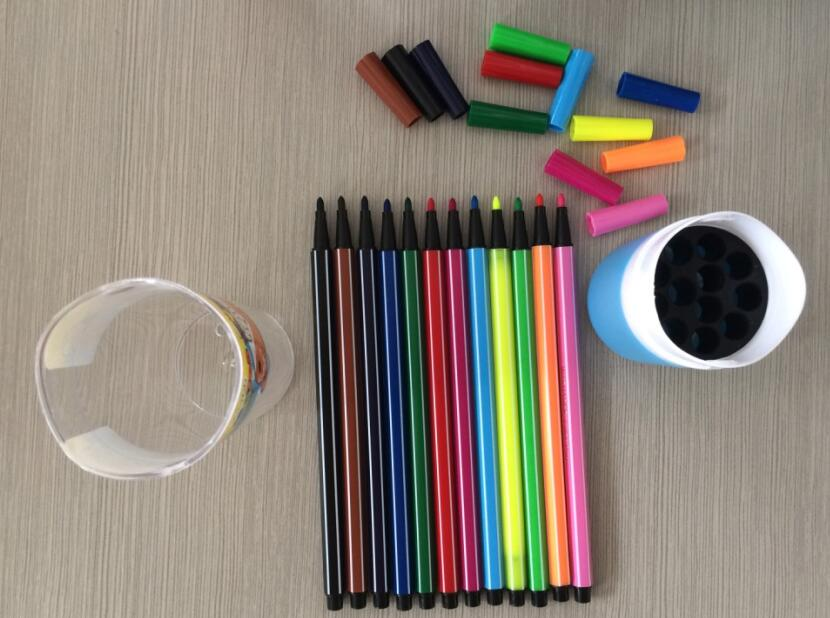 Hexagonal washable 24 colors color pen