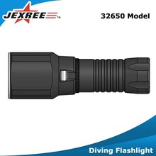 Jexree 1000 Lumens rechargeable led diving torch 32650 Underwater Flashlight