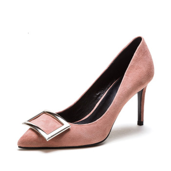 17SS new fashion pointed-toe high heel genuine leather women shoes
