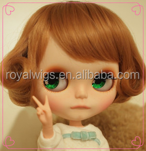 High quality synthetic hair wig cheap doll wig factory price American doll wigs