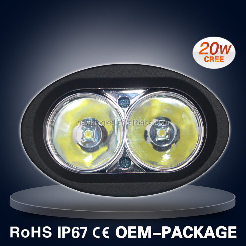 20W CAR LED WORK LIGHT OVAL C REE LED OFF ROAD LIGHT