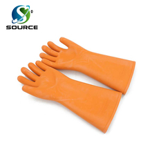China factory sale 12KV 35KV safety electrical resistant gloves rubber insulating gloves