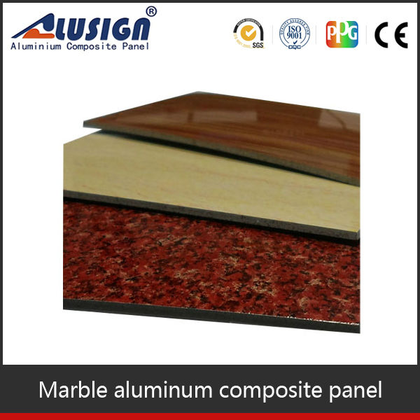 acp sign board material price/building outdoor marble aluminum plastic composite panel