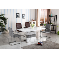 Square Simplistic Extendable Dining Room Table Home Design , 1Piece Dining Table